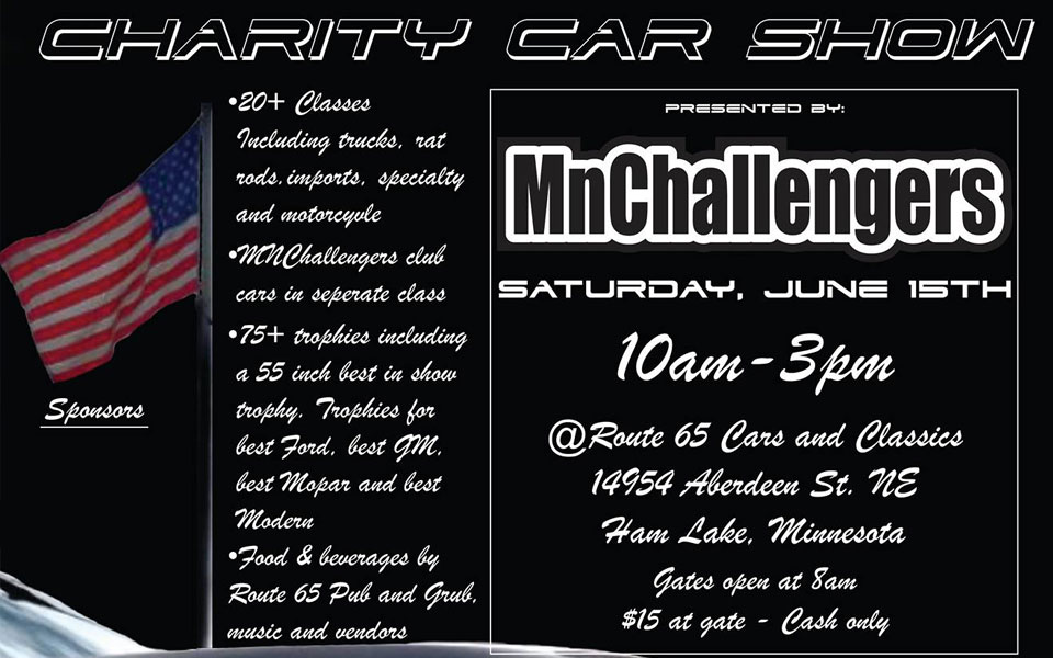 MN Challengers Charity Car Show